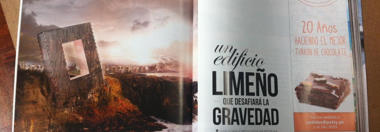 """ASIASUR. Nº152. (Perú). """"Un edificio limeño que desafiará la gravedad"""". pp 104-106. (Feb_2014)."""