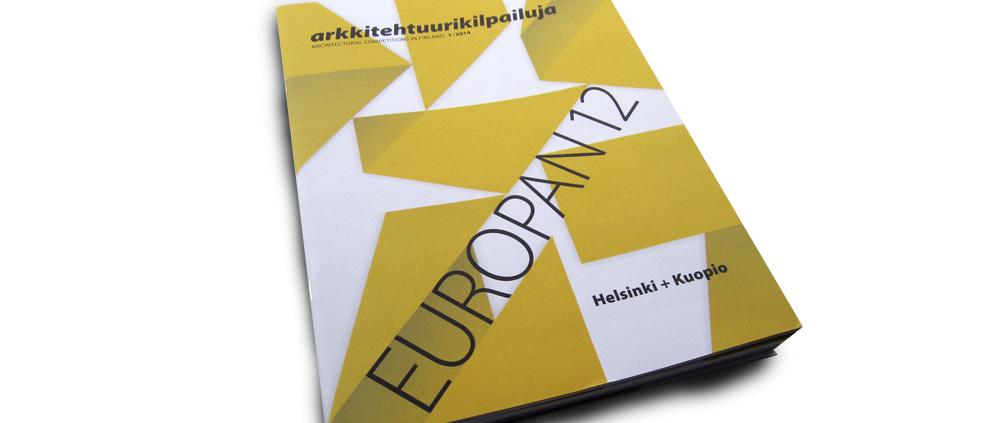 """EUROPAN 12. Editado por Europan-Finland. """"Somewhere over the train flow"""". (Finlandia). pp 32-35. (May_2014)."""
