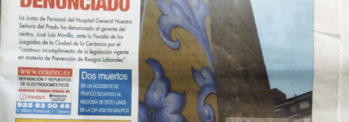 "LA VOZ DEL TAJO. Nº 877. (Spain). ""Plaza de San Miguel Rehabilitation"". p 8. (Jul_2015)."