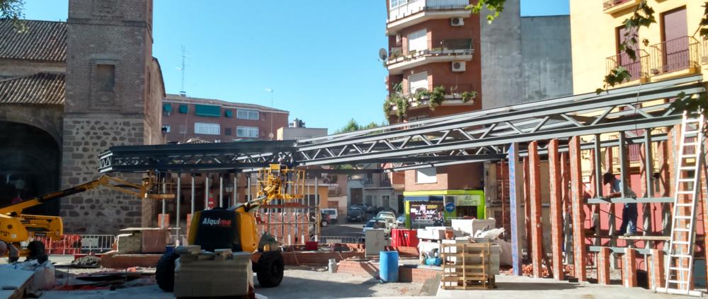 EN CONSTRUCCIÓN. (España). Las obras de la plaza del Salvador avanzan a buen ritmo.