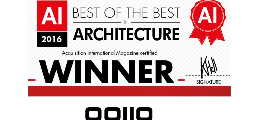 "PREMIO. (Reino Unido). OOIIO es galardonado con el Premio ""Best of the Best in Architecture"". AI Global Media."