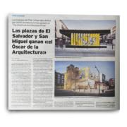 """LA TRIBUNA, 15/10/17. """"Las plazas del Salvador y San Miguel ganan el Oscar de la Arquitectura"""". (España). p. 24. (Oct_2017)."""