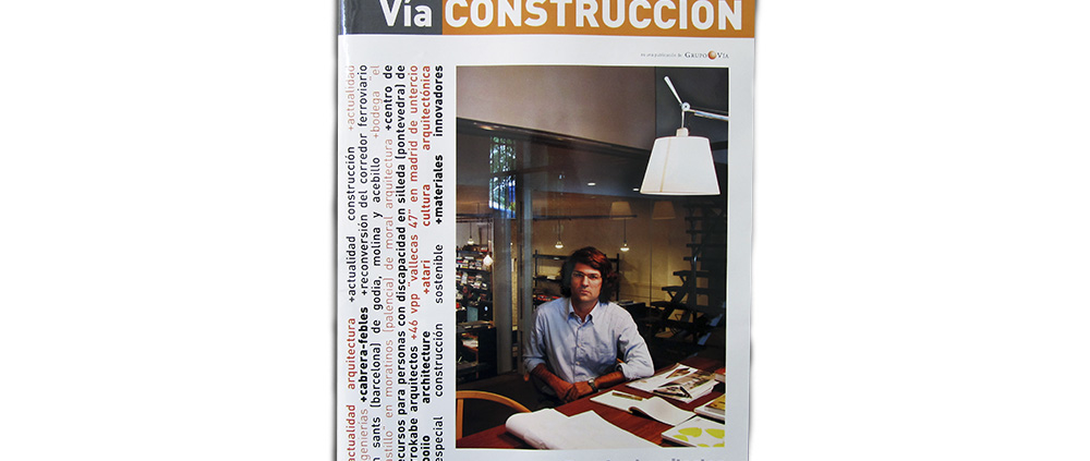 """VÍA CONSTRUCCIÓN, Nº 110. """"Entrevista Joaquín Millán"""". (España). pp. 34-35. (Mar_2013)."""